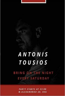 Bring On The Night: Antonis Tousios (Dj Set)